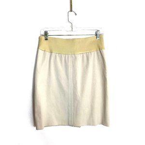 Brunello Cucinelli Cotton Mini Skirt with Leather